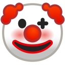 Clown face icon