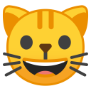 Grinning cat face icon