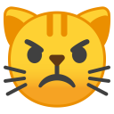 Pouting cat face icon