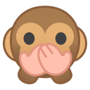 Speak no evil monkey icon