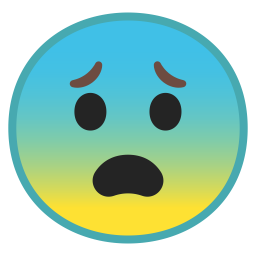 Fearful face icon