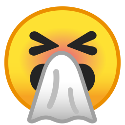 Sneezing face icon