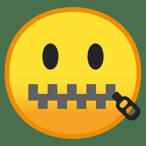 Zipper mouth face icon