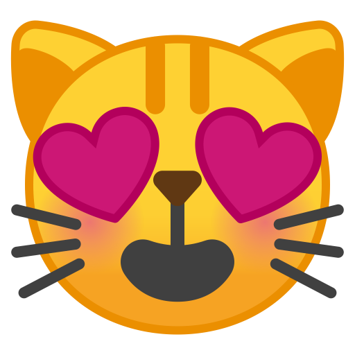 10108-smiling-cat-face-with-heart-eyes icon