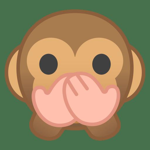 Speak no evil monkey icon