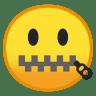 10034-zipper-mouth-face icon