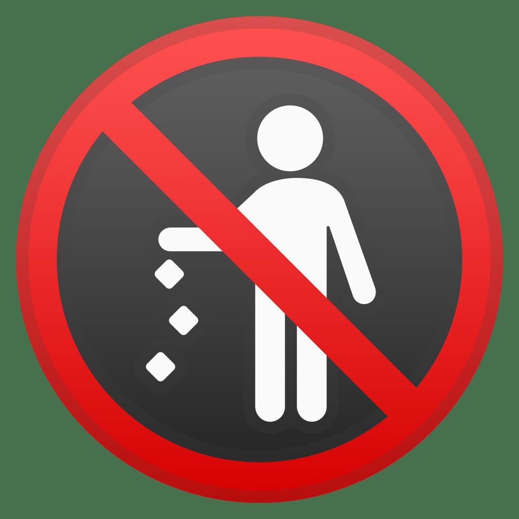 No Littering Icon Noto Emoji Symbols Iconset Google