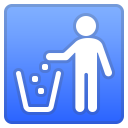 Litter in bin sign icon