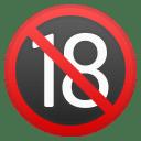 No one under eighteen icon