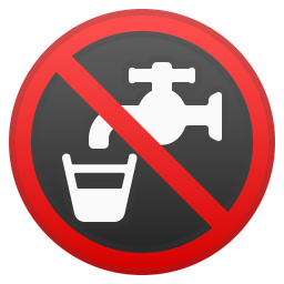 Non potable water icon
