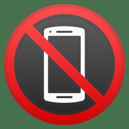 No mobile phones icon