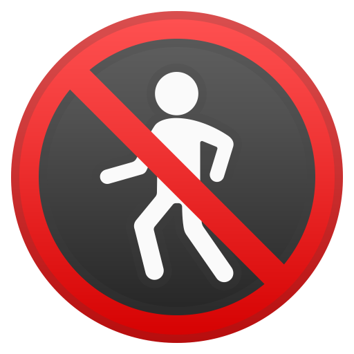 73036-no-pedestrians icon