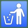 73015-litter-in-bin-sign icon