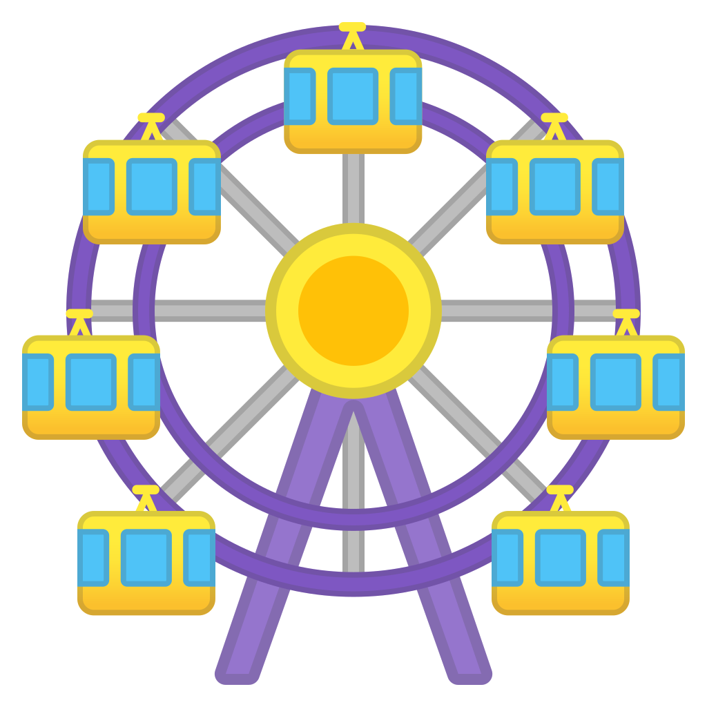 foto de Ferris wheel Icon Noto Emoji Travel & Places Iconset