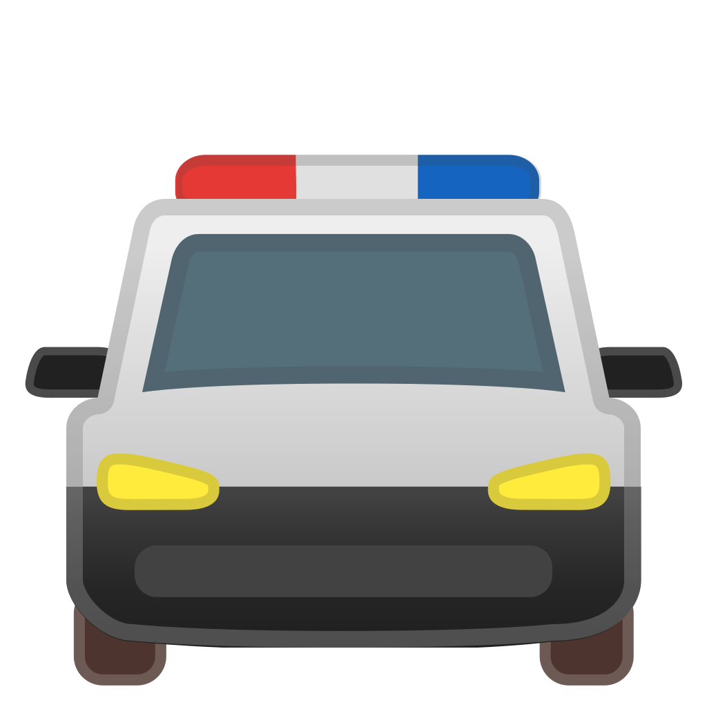 Oncoming Police Car Icon Noto Emoji Travel Places Iconset Google
