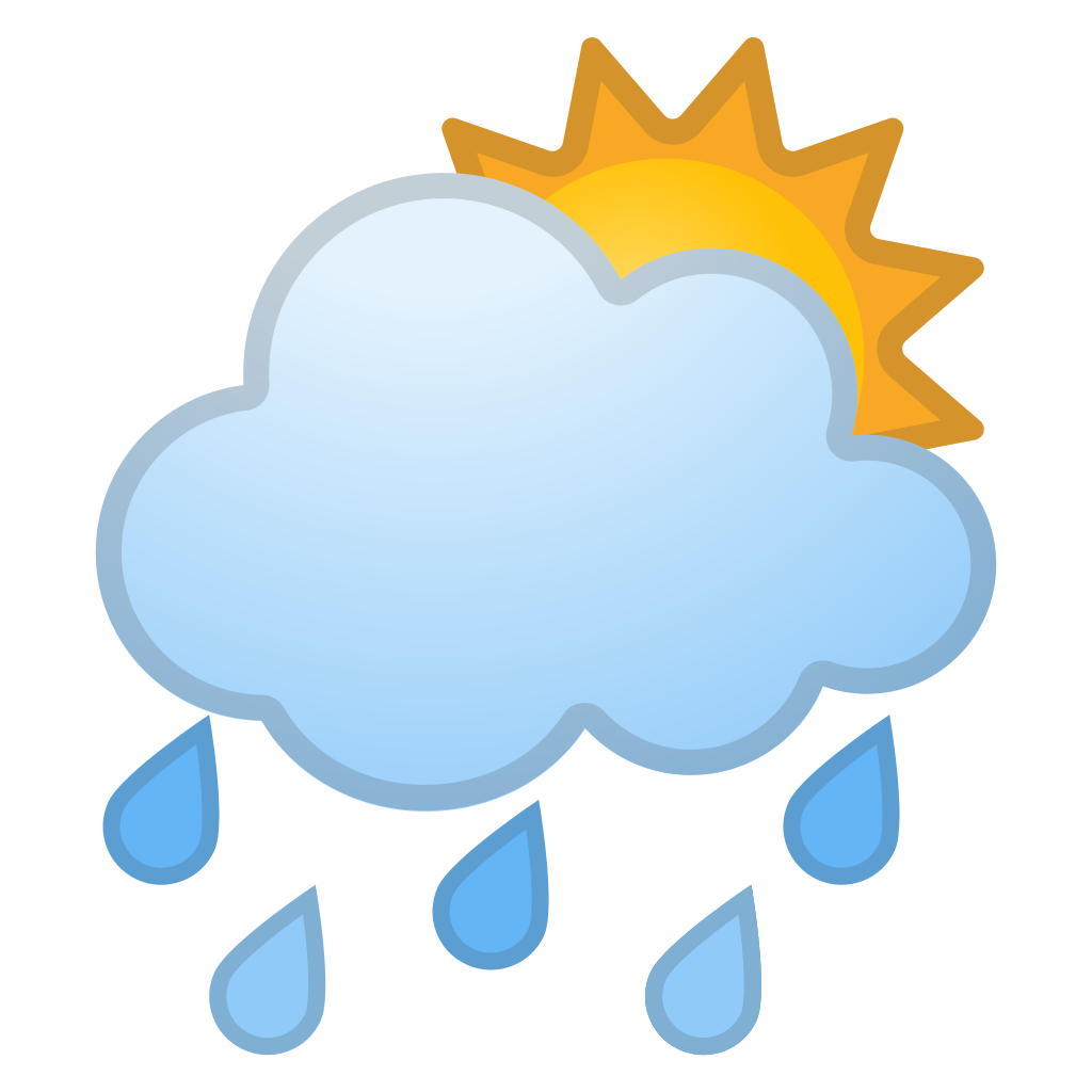 sun behind rain cloud icon noto emoji travel amp places