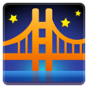 Bridge at night icon