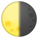 Last quarter moon icon