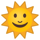 Sun with face icon