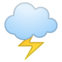 Cloud with lightning icon