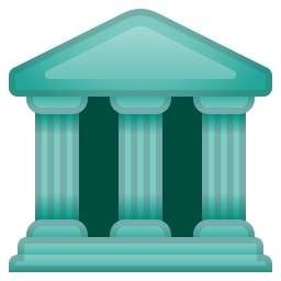 Classical building icon