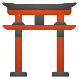 Shinto shrine icon