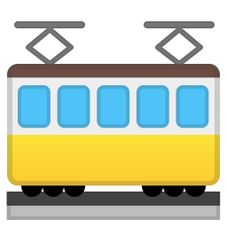 Tram car icon