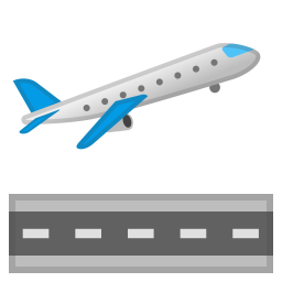 Airplane departure icon