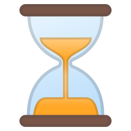 Hourglass not done icon