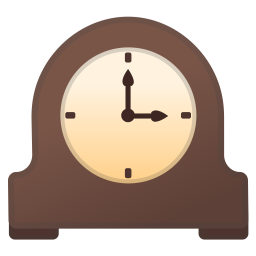 Mantelpiece clock icon