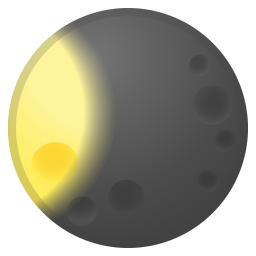 Waxing gibbous moon icon