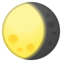 Waning gibbous moon icon