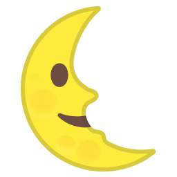 Last quarter moon face icon