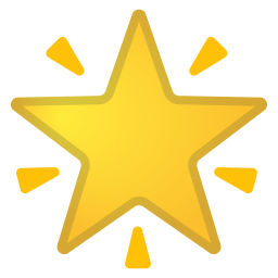 Glowing star icon