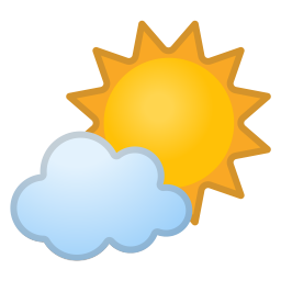 Sun behind small cloud icon