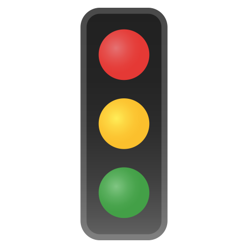 Vertical traffic light icon