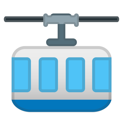 Mountain cableway icon