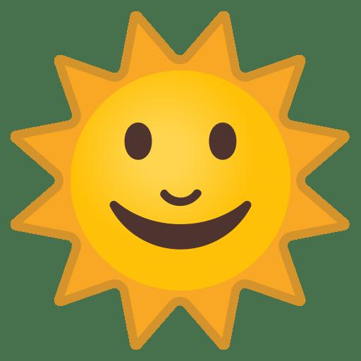 Sun with face icon