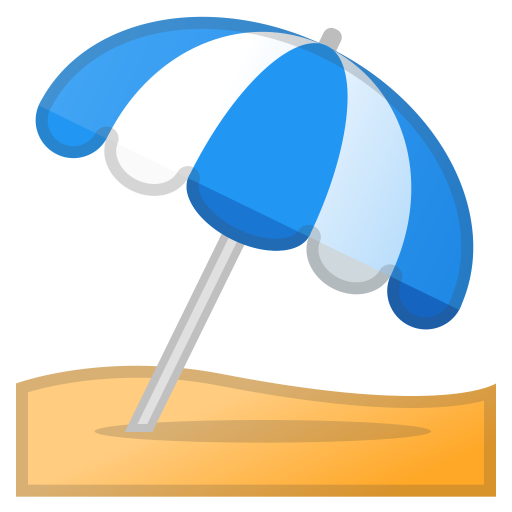 Umbrella on ground icon