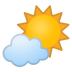 42664-sun-behind-small-cloud icon