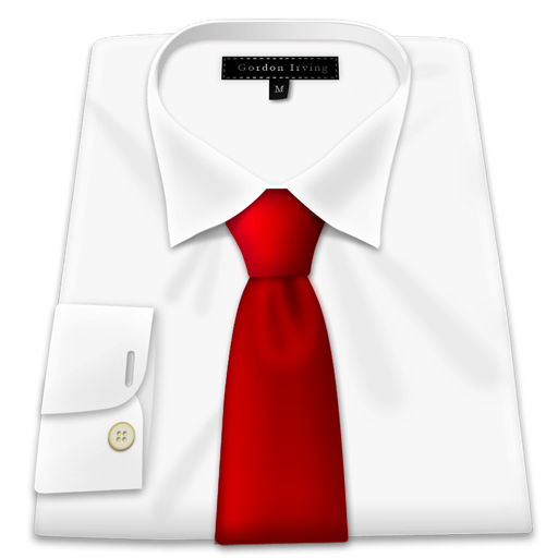 White Shirt Red Tie