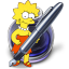 http://icons.iconarchive.com/icons/gordon-irving/simpsons/64/Pages-Lisa-icon.png
