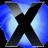 X Circle Blu icon