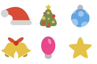 simple christmas icons - Simple Christmas