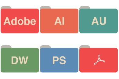 Adobe CC Folders Icons