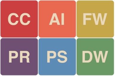Flat Retro Adobe CC Icons