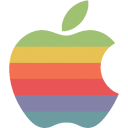 rainbow apple logo icon