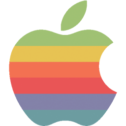 rainbow apple logo icon