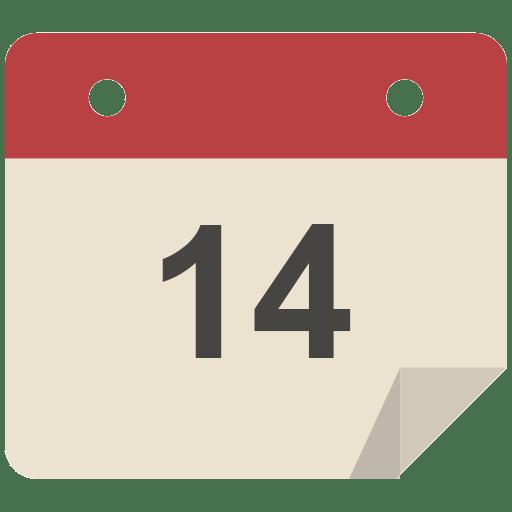 Calendar Icon Png : Calendar icon flat retro modern iconset grafikartes