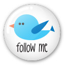 Twitter button follow me icon